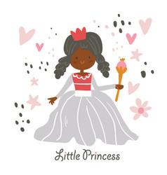 Beautiful african american princess vector