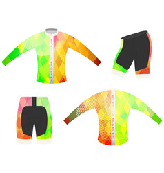 Bicycle apparel sports t-shirt vector