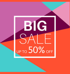 big sale banner for online shopping vector image