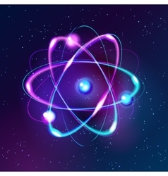 Blue Shining atom Abstract Technology dark vector image