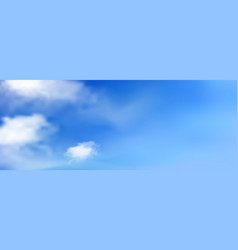 blue sunny sky with white clouds landscape vector image