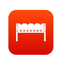 Brazier icon digital red vector