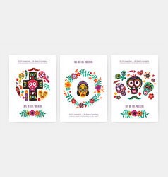 Bundle of flyer poster or party invitation vector