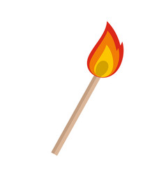 burning matche icon flat style vector image