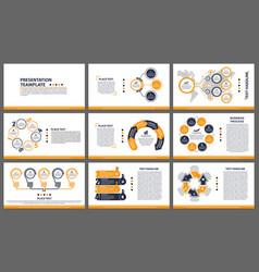Business presentation templates modern elements vector