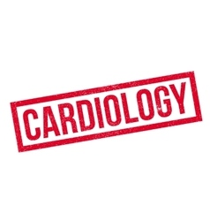 Cardiology rubber stamp vector