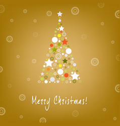 christmas tree design greeting card vector image