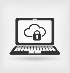 Cloud computer storage with lock vector