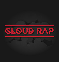 clown rap on a dark background vector image