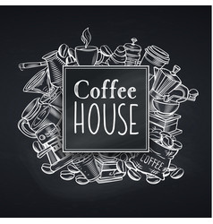 Coffee house design chalkboard vector