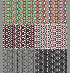 Color kaleidoscope backgrounds set vector