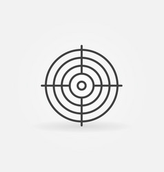 crosshair concept icon in thin line style vector image