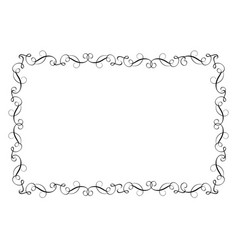 decorative frame and borders art calligraphy vector image