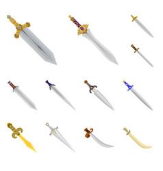 design of sword and dagger symbol set of vector image