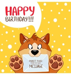 Dog message birthday vector