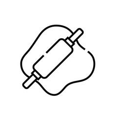 Dough line icon concept sign outline vector