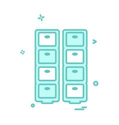 drawer icon design vector image