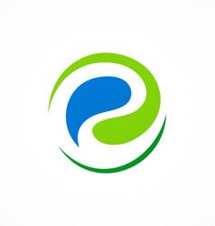 Ecology abstract circle logo vector