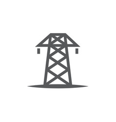 electric tower icon on white background vector image