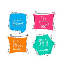 Espresso trade chart and finance icons shampoo vector
