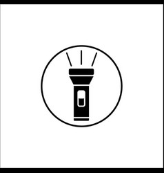 flashlight solid icon mobile sign vector image