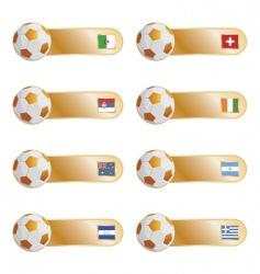 football flag tabs vector image vector image