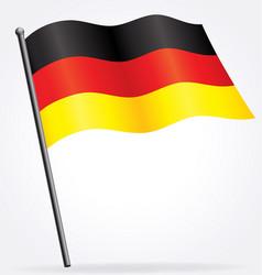 German deutsche flag waving on flagpole vector