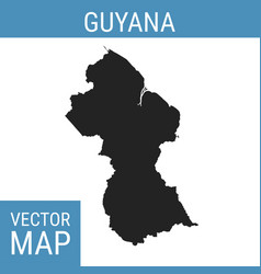 guyana map with title vector image