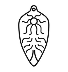 Intestinal parasite icon outline style vector