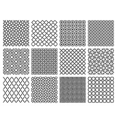 Islamic Patterns Set vector image