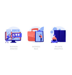 it business problems concept metaphors vector image