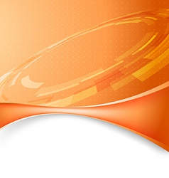 Mechanic gear orange tech background vector