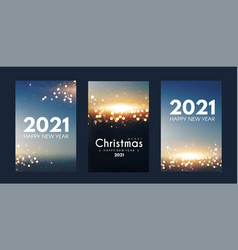 merry christmas and happy new yaer flyer template vector image