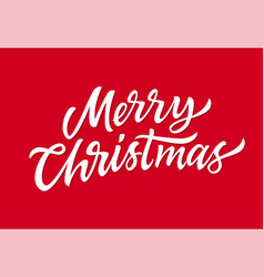 merry christmas - hand drawn brush pen vector image vector image