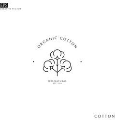 Organic cotton logo vector