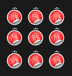 paper stickers with discount percents vector image