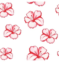 Patern seamless wallpaper with flowers vector