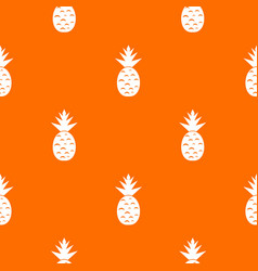 Pineapple pattern seamless vector