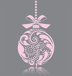 Pink christmas toy vector image
