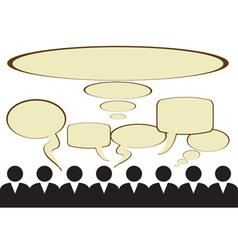 Public opinion vector image