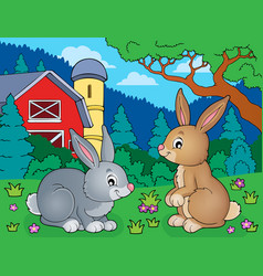 Rabbit topic image 5 vector