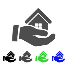 Realty offer hand flat icon vector