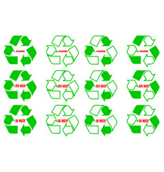recycling - no waste - zero waste recycle logo vector image