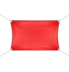 Red Blank Empty Horizontal Rectangular Banner vector