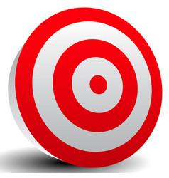 Red bullseye target vector