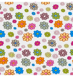 Retro Flowers Seamless Pattern Background vector image vector image