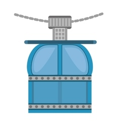 ropeway cabine gondola vacation travel vector image