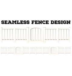 Seamless background with fence and gate vector