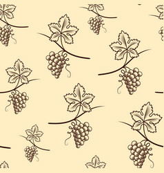 seamless pattern of grapevintage vector image
