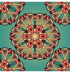 Seanless hand drawn vintage mandala background vector image